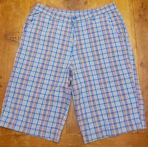 Vintage Vibes long below knee madras shorts